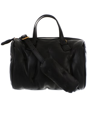 ANYA HINDMARCH - BLACK CHUBBY BARREL BAG
