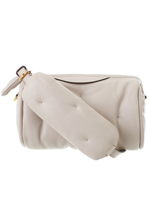 ANYA HINDMARCH - GREY CHUBBY BARREL CROSSBODY