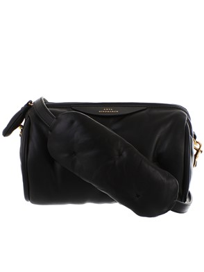 ANYA HINDMARCH - BLACK CHUBBY BARREL CROSSBODY