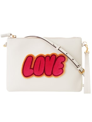 ANYA HINDMARCH - BEIGE KISSES CROSSBODY POUCH