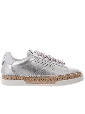 TOD'S - SILVER SNEAKERS