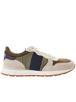WOOLRICH - GREEN AND BEIGE SNEAKERS