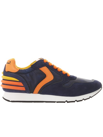 VOILE BLANCHE BLUE AND ORANGE LIAM POWER SNEAKERS