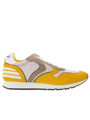 VOILE BLANCHE - GREY AND YELLOW LIAM FREE POWER SNEAKERS