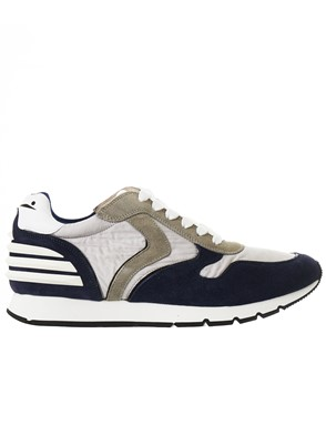 VOILE BLANCHE - GREY AND BLUE LIAM FREE POWER SNEAKERS