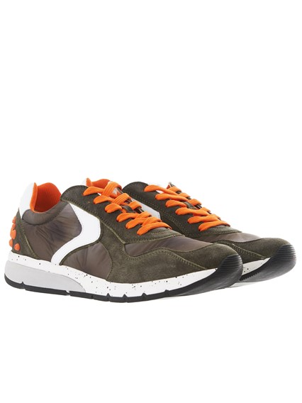 VOILE BLANCHE GREEN AND ORANGE NEW LENNY POWER SNEAKERS
