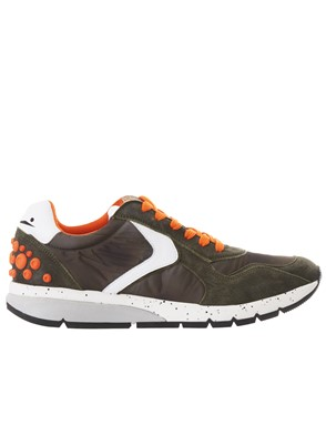 VOILE BLANCHE - GREEN AND ORANGE NEW LENNY POWER SNEAKERS