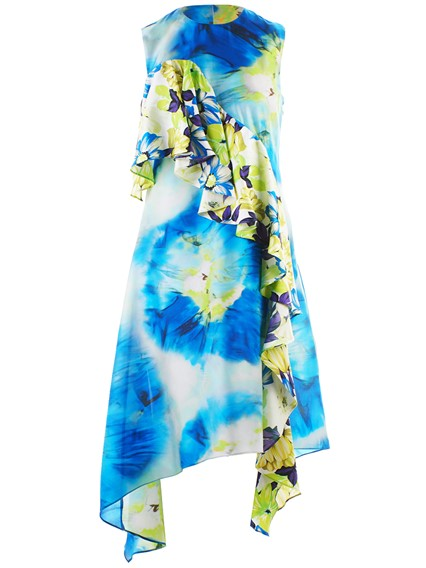 MSGM MULTICOLOR RUCHED DRESS