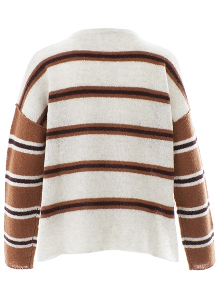 360 CASHMERE BROWN AND BEIGE SWEATER