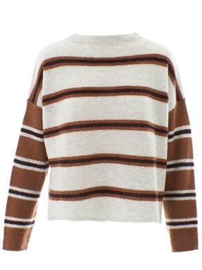 360 CASHMERE - BROWN AND BEIGE SWEATER