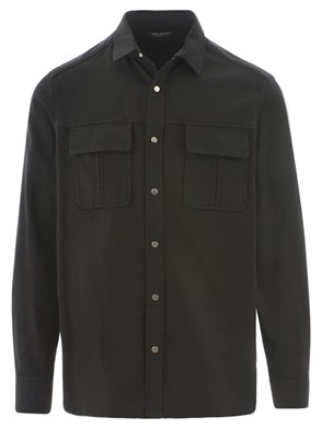 NEIL BARRETT - BLACK GANG WORKWEAR SHIRT