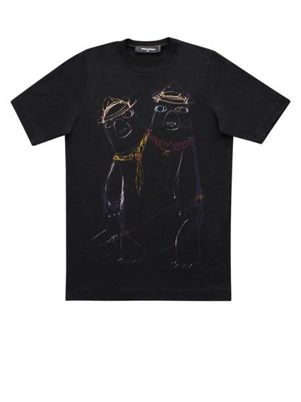 DSQUARED2 BLACK T-SHIRT