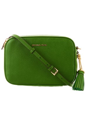 MICHAEL KORS - BORSINA CROSS CAMERA BAG VERDE