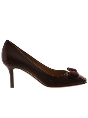SALVATORE FERRAGAMO - BURGUNDY ERICE PUMPS