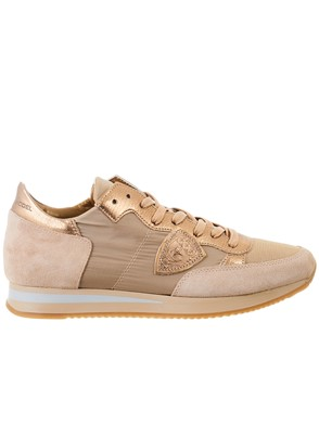 PHILIPPE MODEL - BROWN TROPEZ SNEAKERS