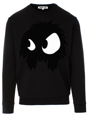 ALEXANDER MCQUEEN - BLACK MAD-CHESTER SWEATSHIRT