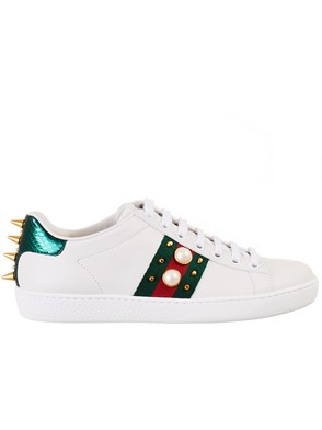 GUCCI - LEATHER SNEAKERS