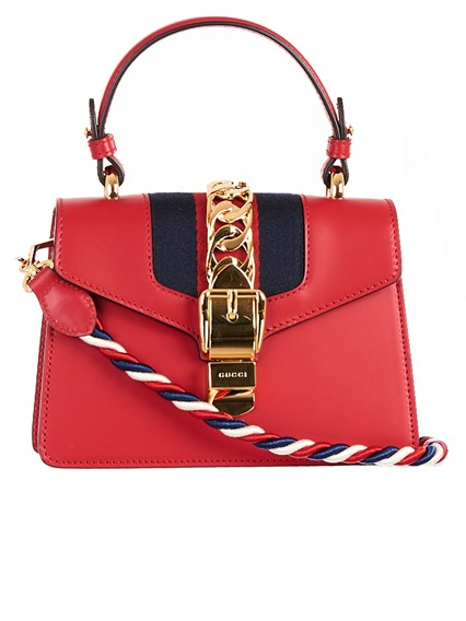 GUCCI RED MINI SYLVIE BAG