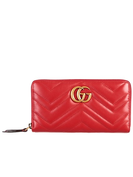 150d90d20f28a4 gucci RED GG MARMONT WALLET available on lungolivigno.com - 25313