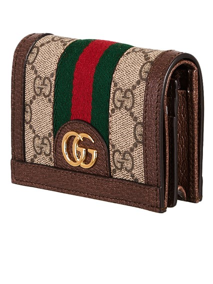 5c88805ef5a3 gucci BROWN OPHIDIA CARD HOLDER available on lungolivigno.com - 25314
