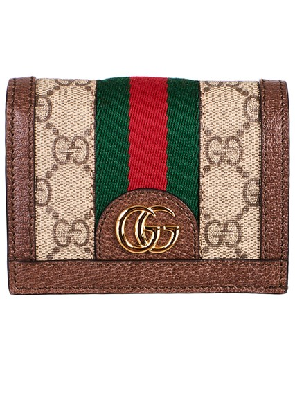 6a809d74f74 gucci BROWN OPHIDIA CARD HOLDER available on lungolivigno.com - 25314