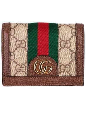 GUCCI - BROWN OPHIDIA CARD HOLDER