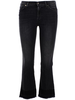7 FOR ALL MANKIND - GREY CROPPED JEANS