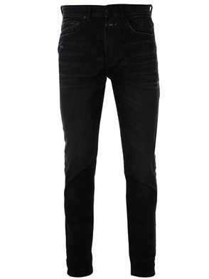 CLOSED - JEANS TAPERED NERO