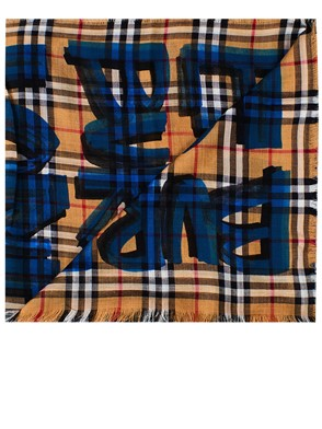BURBERRY - WOOL AND SILK SCARF