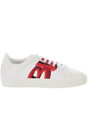 BURBERRY - WHITE WESTFORD SNEAKERS