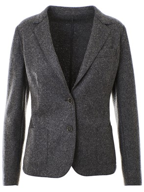 ELEVENTY - GREY SINGLE-BREASTED BLAZER