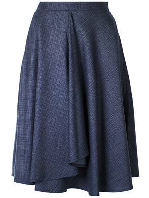 ELEVENTY - BLUE RUCHED FULL SKIRT