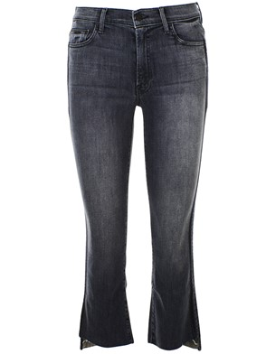 MOTHER - BLUE CROP STEP JEANS