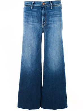MOTHER JEANS - BLUE SWOONER CROP JEANS