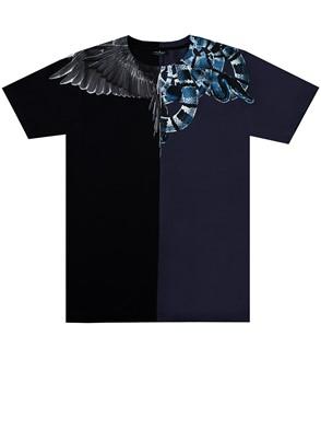 MARCELO BURLON - BLACK WINGS SNAKE T-SHIRT