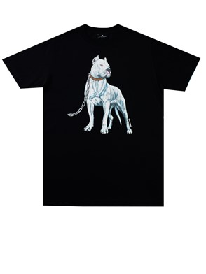 MARCELO BURLON COUNTY OF MILAN - BLACK DOGO T-SHIRT