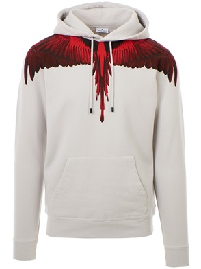 MARCELO BURLON COUNTY OF MILAN - GREY WINGS SWEATSHIRT