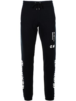 MARCELO BURLON - BLACK MBCM PANTS