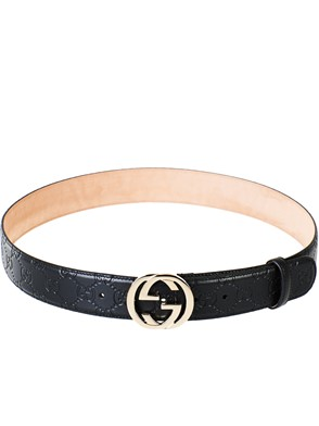 GUCCI - BLACK GUCCISSIMA BELT