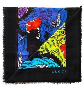 GUCCI - BLACK TIGERS SHAWL