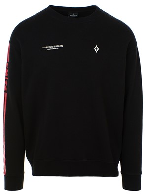 MARCELO BURLON COUNTY OF MILAN - BLACK WINGS SWEATSHIRT
