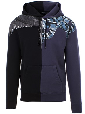 MARCELO BURLON COUNTY OF MILAN - BLACK WINGS SNAKE SWEATSHIRT