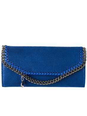 STELLA MC CARTNEY - BLUE FALABELLA WALLET