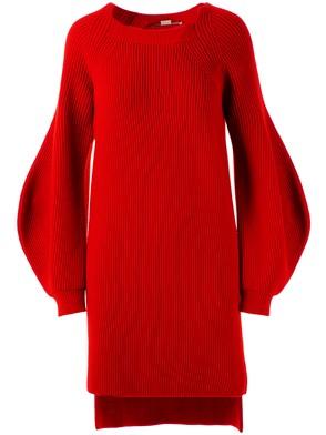 STELLA MC CARTNEY - RED ASYMMETRICAL DRESS
