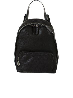 STELLA MC CARTNEY - BLACK MINI BACKPACK