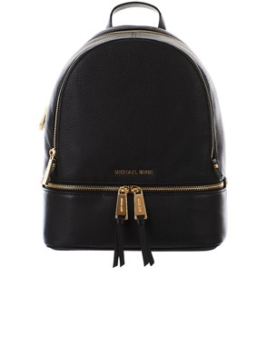 MICHAEL KORS - BLACK RHEA BACKPACK