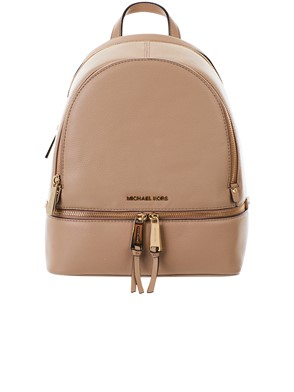 MICHAEL KORS - BEIGE RHEA BACKPACK