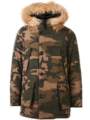 WOOLRICH - GREEN AND BROWN PARKA