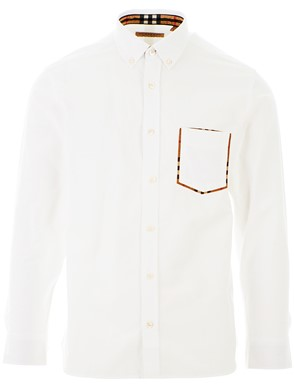 BURBERRY - WHITE HARRY POCKET SHIRT
