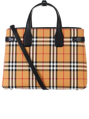 BURBERRY - BROWN BANNER BAG